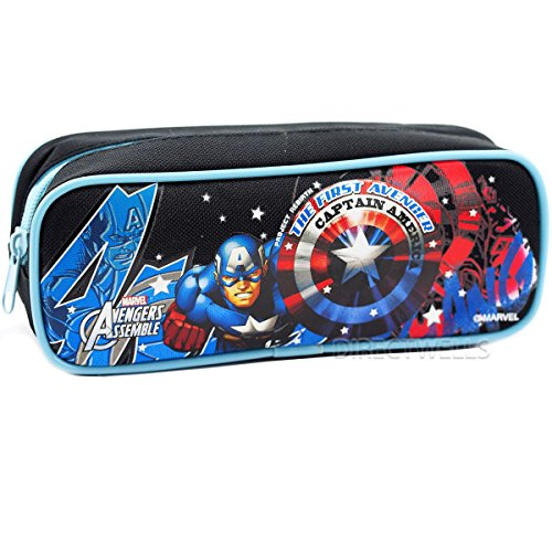 Captain America Marvel Avengers Good Quality Pencil Case (Black)