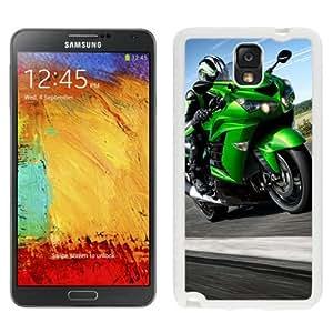 NEW Unique Custom Designed Samsung Galaxy Note 3 N900A N900V N900P N900T Phone Case With Kawasaki Ninja ZX 14 Light Green_White Phone Case