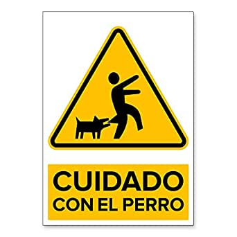 Señal Cuidado con el Perro | Señalética en Material Aluminio ...
