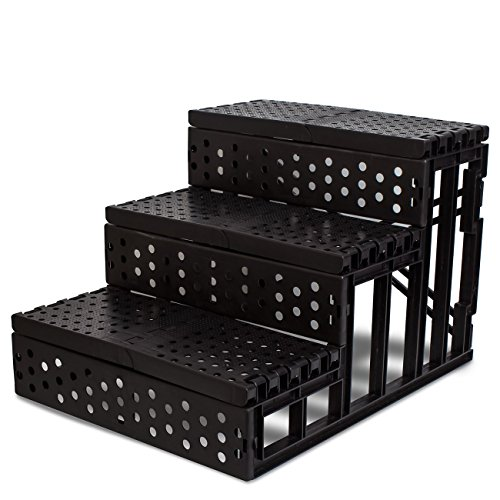 Oxgord Pet Stairs To Get On High Bed For Cat And Dog Steps