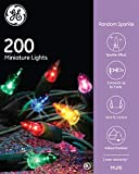 Nicholas Holiday GE Random Sparkle String Set 200 Lights Multi-Color Christmas Lights