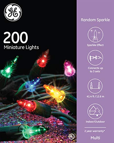- Nicholas Holiday GE Random Sparkle String Set 200 Lights Multi-Color Christmas Lights