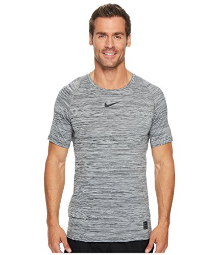 Nike Men's Pro Heather Printed Fitted T-Shirt (Black/Cool Grey/Black M)❗️Ships Directly from (Nike Dri Fit Fitted)