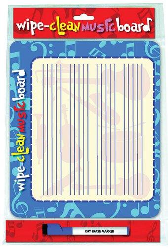 Wipe Clean Music Board - Landscape (Blue Board And Pen) (Wipe Clean Board)