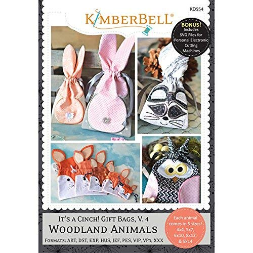 KIMBERBELL Embroidery CD: It's a Cinch! Gift Bags, Volume 4: Woodland Animals KD554 ()