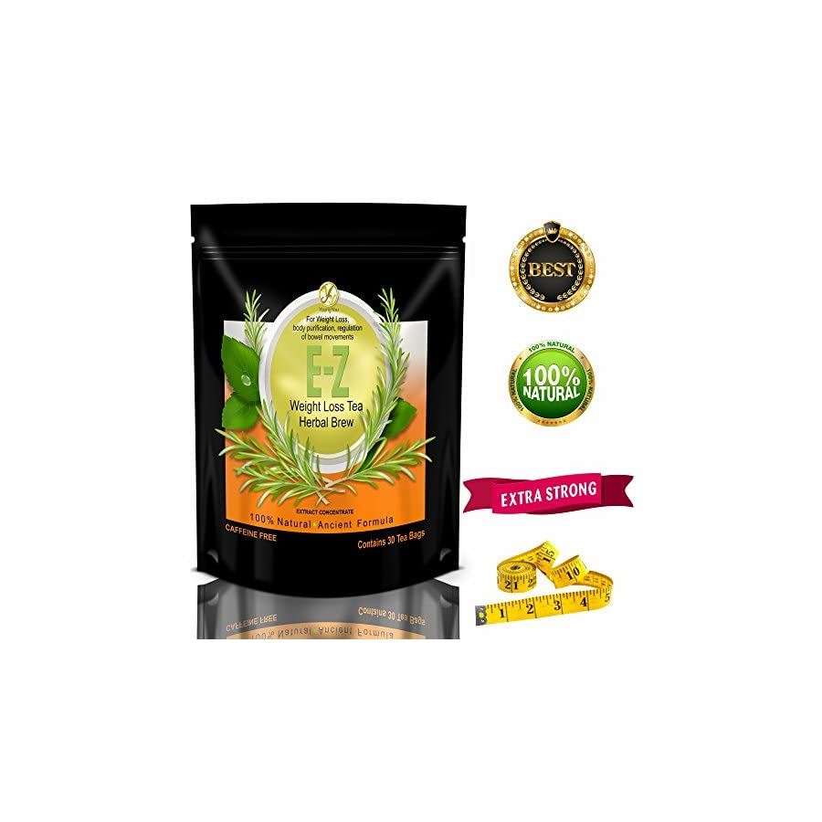 E Z Detox Tea – Natural Weight Loss, Appetite Control, Body Cleanse. Proven Weight Loss Diet Tea …
