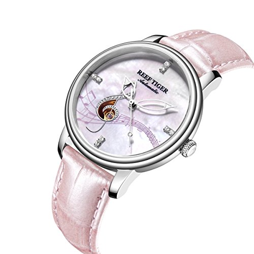 Reef Tiger Top Brand Luxury Diamonds Fashion Watches Womens Steel Analog Watches Waterproof RGA1582