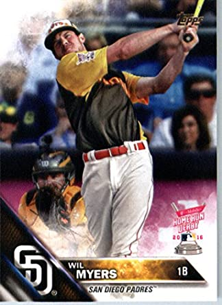 2016 Topps Update Us268 Wil Myers San Diego Padres Home Run Derby Baseball Card In Protective Screwdown Display Case