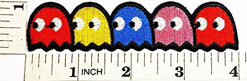 Pac-man ghosts Blinky Pinky Inky Clyde Game Logo Girl Kid Baby Jacket T shirt Patch Sew Iron on Embroidered Symbol Badge Cloth Sign (Pinky Costumes)