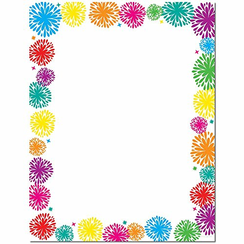 Fanciful Fireworks Letterhead Laser & Inkjet Printer Paper, 100 pack by Image Shop