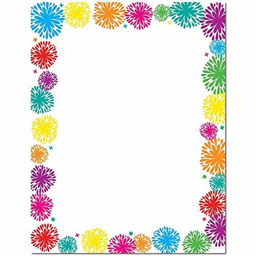 Paper Fireworks (Fanciful Fireworks Letterhead Laser & Inkjet Printer Paper, 100 pack)