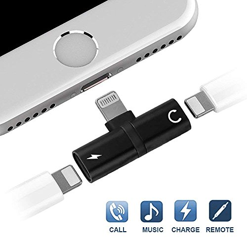 TureLaugh 2 in1 Splitter Adapter for Phone X/8/7, Dual Headphone Adapter Audio & Charge Compatible with iOS 10.3 or Later
