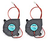 12 volt dc blower - RION TECH 2pcs Cooling Blower Fan DC 12V 0.23A 50x50x15mm 5015 Fans for 3d Printer Humidifier Aromatherapy and Other Small Appliances Series Repair Replacement
