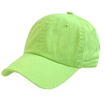 ae043b9479 Amazon.com  LIME GREEN POLO STYLE ADJUSTABLE UNSTRUCTURED LOW-PROFILE  BASEBALL CAP CAPS HAT HATS  Everything Else