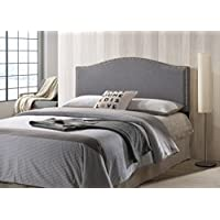 Poly and Bark Ariella Headboard with Nailhead Trim , Queen Size
