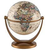 Waypoint Geographic GyroGlobe 4'' Classic Oceans - UP-TO-DATE Compact Mini Globe Swivels in All Directions - Perfect for Small Spaces at Home, Office & Classroom