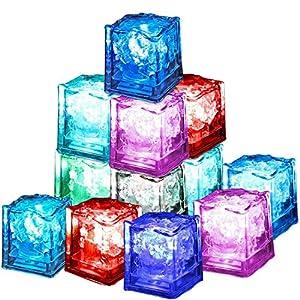 12 Pezzi Luminous ice,Xrten Cubo Ghiaccio LED Ice Cube Adatto per Bar, Balli, Ricevimenti, Feste, Matrimonio 8 spesavip