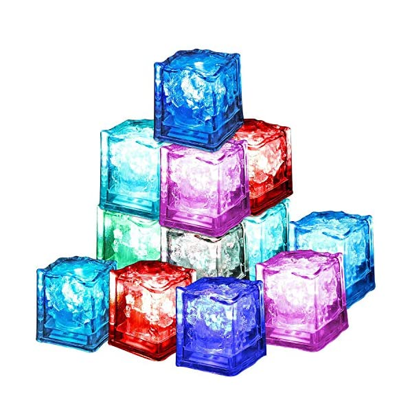 12 Pezzi Luminous ice,Xrten Cubo Ghiaccio LED Ice Cube Adatto per Bar, Balli, Ricevimenti, Feste, Matrimonio 1 spesavip
