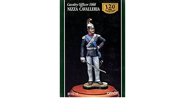 AMATI 120mm Cavalry Officer 1860 Nizza Cavalleria Resin Figure Kit #8510//15