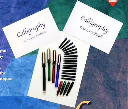 Complete Calligraphy Pen Starter Kit For Beginners w/Instruction Booklet!