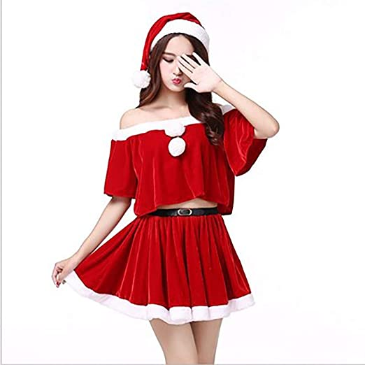 Disfraz De Papa Noel Mujer Sexy Rojo Traje De Navidad Usar ...