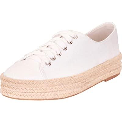 Cambridge Select Women's Low Top Lace-Up Chunky Espadrille Flatform Fashion Sneaker | Fashion Sneakers