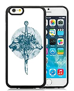Beautiful Designed Cover Case For iPhone 6 4.7 Inch TPU With wolves Black Phone Case