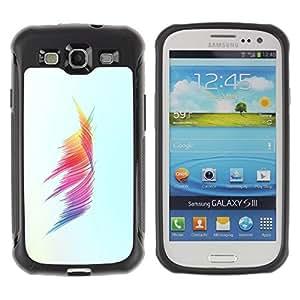 LASTONE PHONE CASE / Suave Silicona Caso Carcasa de Caucho Funda para Samsung Galaxy S3 I9300 / Colors Minimalist Brush Stroke