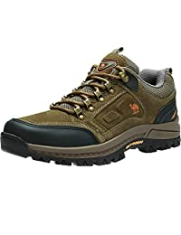 CAMEL CROWN Mens Lightweight Hiking Shoes Shockproof Non-Slip Outdoor Breathable Leather Hiking Walking Trail Sneakers
