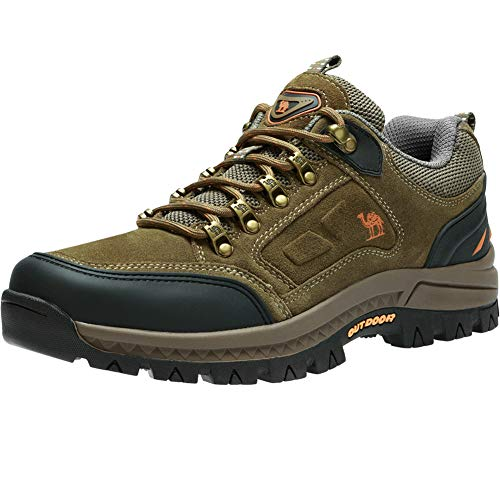 - CAMEL CROWN Men's Outdoor Leather Hiking Shoes Breathable Lightweight Sneaker for Walking Trekking