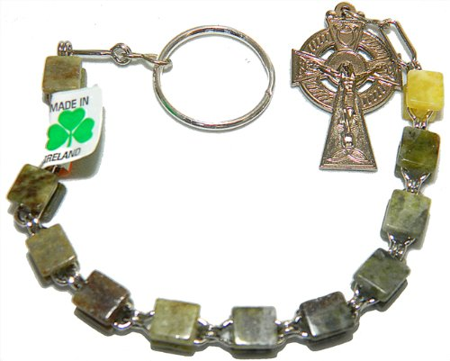 Irish Connemara Marble Single Decade Rosary Prayer Beads Handcrafted