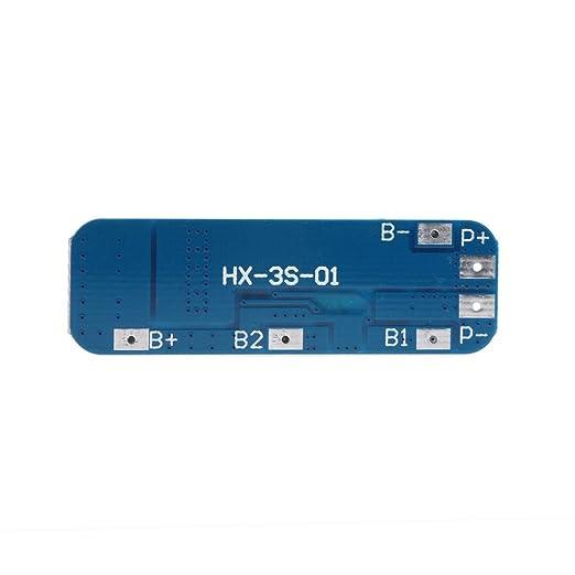 3S 18650 Li-ion batería de litio 10A 12V BMS PCM cargador placa de ...