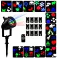 Party Projection Lights Led Projector Lights, Indoor and Outdoor 12 Pattern Lens Sparkling Snowflake Landscape Lights Waterproof for Christmas, Holiday, Wedding, Garden Decoration
