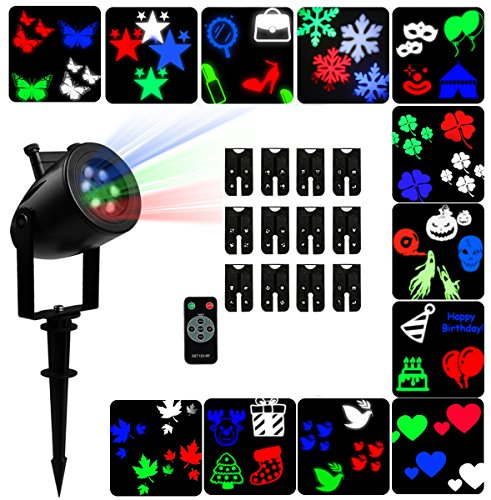 Eye Contact For Halloween (Party Projection Lights Led Projector Lights, Indoor and Outdoor 12 Pattern Lens Sparkling Snowflake Landscape Lights Waterproof for Christmas, Holiday, Wedding, Garden Decoration)