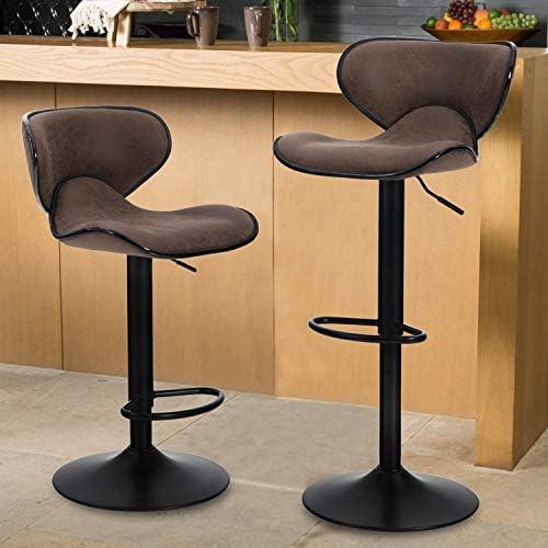 Maison Counter Height Bar Stools Set of 2 Swivel Adjustable Barstools