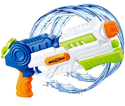 Water Blaster Water Gun Soaker Squirt 1200CC Moisture Capacity Party and Outdoor Activity Water Fun Toys for Children and Adults. (Gun Water Blaster)