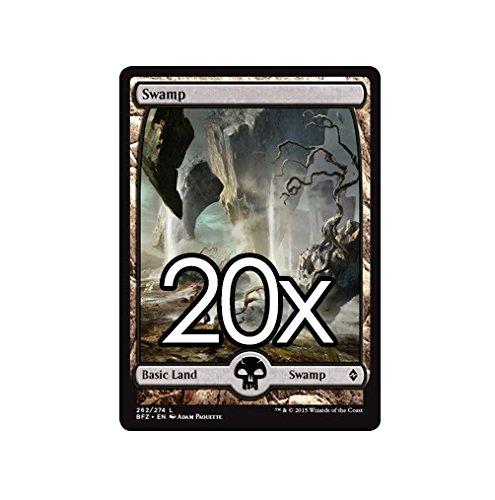 20 Battle for Zendikar Swamp #262 Magic the Gathering Basic FULL ART Land Lot