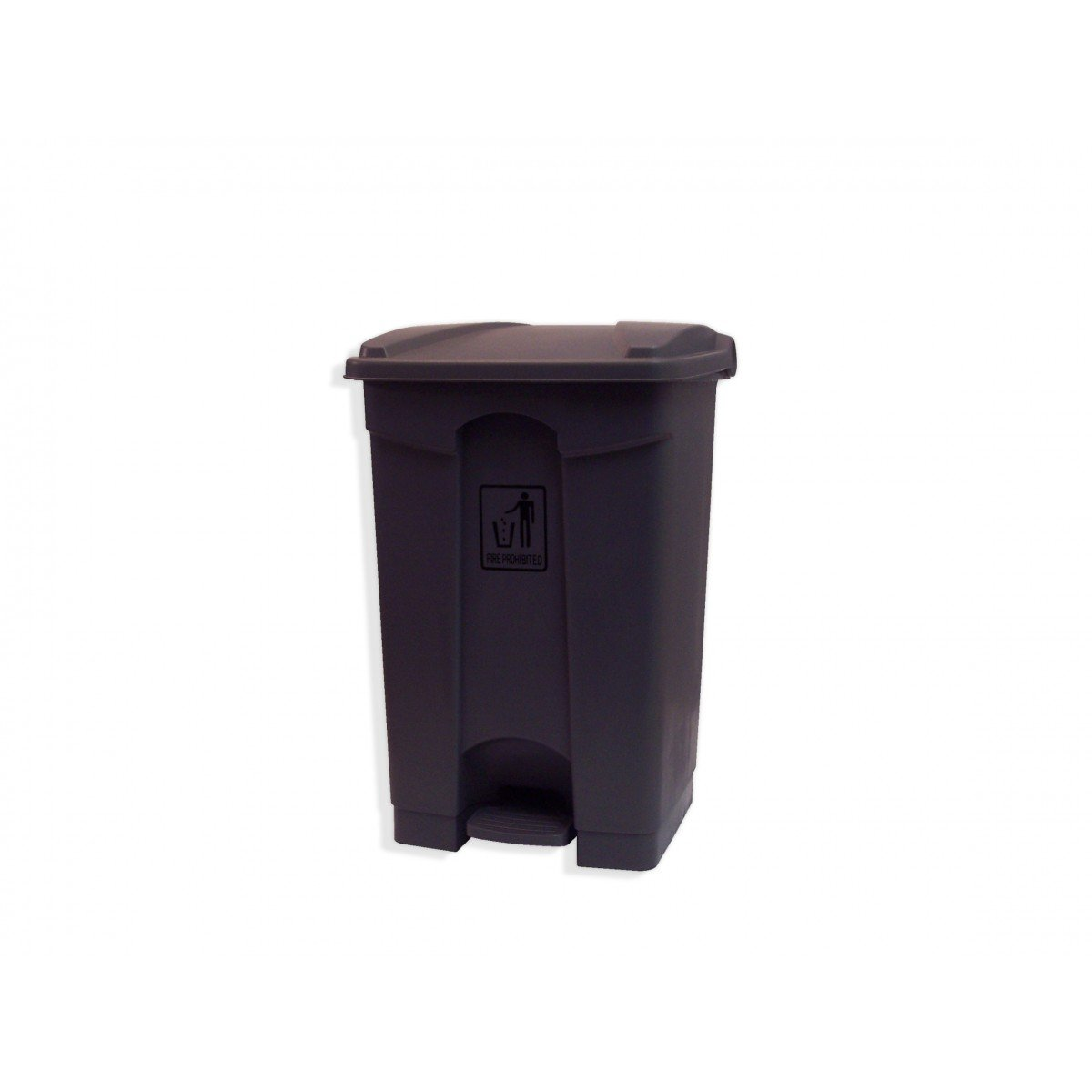 GARBAGE CAN WITH LID AND FOOT PEDAL - 47.5 QT (45 L ) - BLACK Johnny Vac