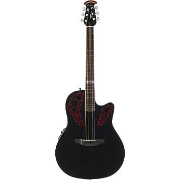 Ovation Kevin Cronin Celebrity Elite acústica guitarra eléctrica, Negro mid-depth