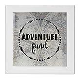 Lawrence Frames 8x8 Adventure Fund White Shadow Box Frame