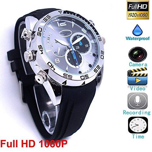 16GB Full HD 1080P 1920×1080P Spy Cam Watch Gadget Camera Wrist Watch Mini DV Hidden Camera ...