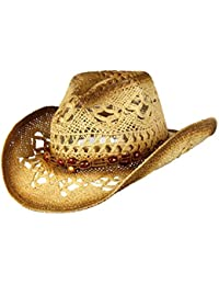 194fb01d Shapeable Toyo Straw Cowboy Hat w/Beaded Trim Band, Western Cowgirl ·  Saddleback Hats