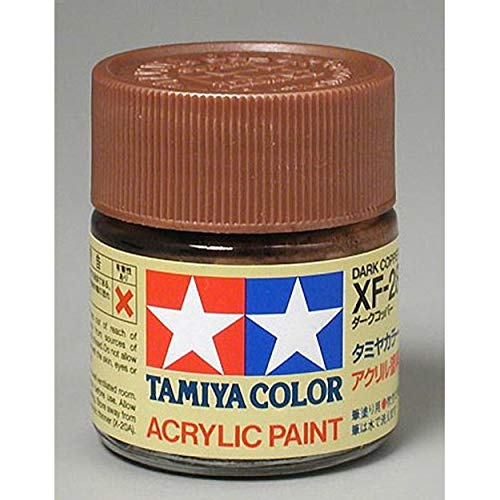 Tamiya Acrylic XF28 Dark Copper 23ml Bottle