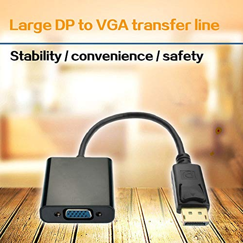 Displayport DP to VGA Adapter Male to Female Converter Display Port Adapter