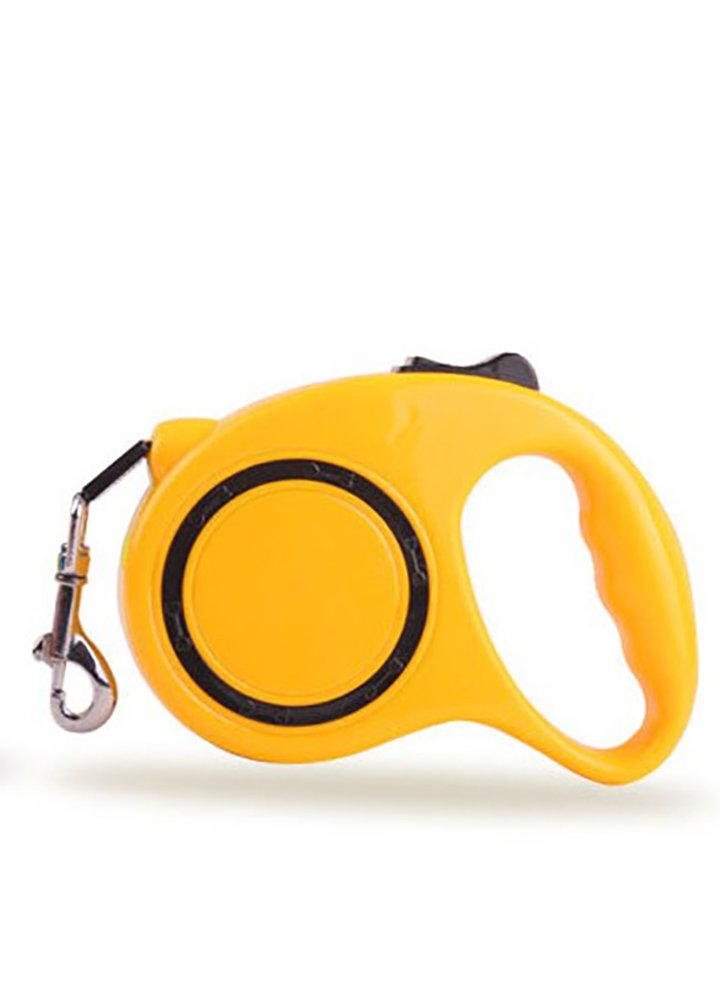 USA Pets Retractable Pet Leash, 16Ft (5M) for Small Pets Up to 24-30lbs One Button Break & Lock_Yellow