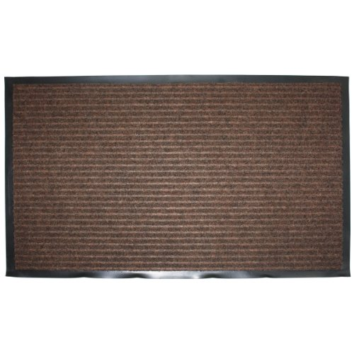 J & M Home Fashions Ribbed Utility Mat, 30-Inch by 48-Inch, Brown (Outdoor Throw Rugs)