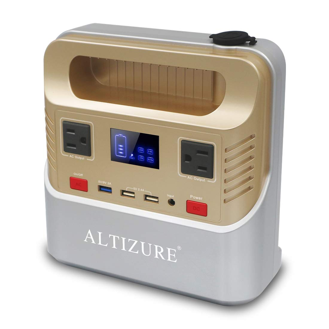 ALTIZURE Portable Power Station Portable Generator Solar Generator 300W 76000mAh 266Wh Pure Sine Wave CPAP Home Use Outdoor Camping Disaster Prevention Emergency,with AC USB QC3.0,LED Light,SOS Flash
