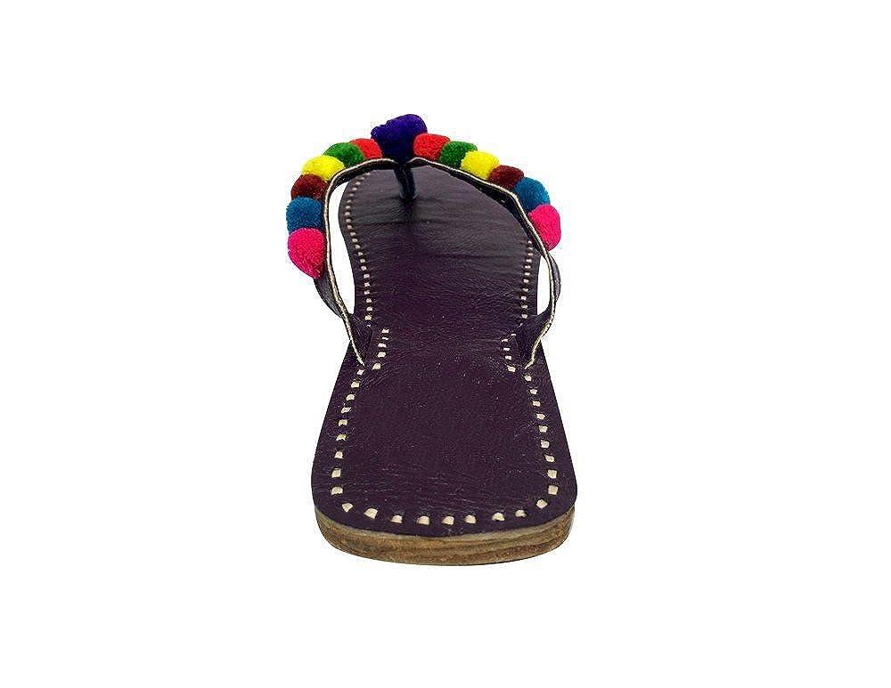 Step n Style Womens Jutti Traditional Punjabi Mojari Khussa Sandle Us Style Chappal