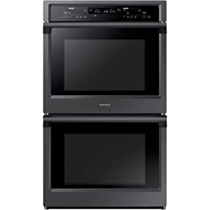 """Samsung Appliance NV51K6650DG 30"""" 10.2 cu. ft. Total Capacity Electric Double Wall Oven with Top Broiler, in Black Stainless Steel"""