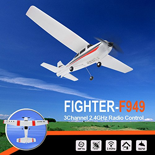 Blueseao RTF Glider, WLtoys F949 3CH 2.4G RC Airplane RTF Glider Remote Control Plane for Indoors/Outdoors Flight Toys Super Easy to Fly, EPP Composite Material